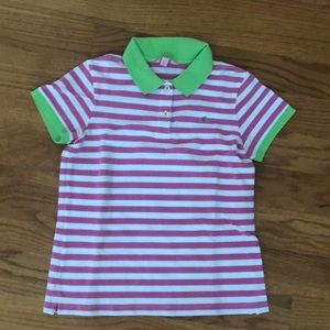 Pink/white polo shirt from LILLY PULITZER MEDIUM
